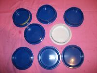 Dog Puppy Cat Kitten Rabbit Bunny Red Bowl Dishes