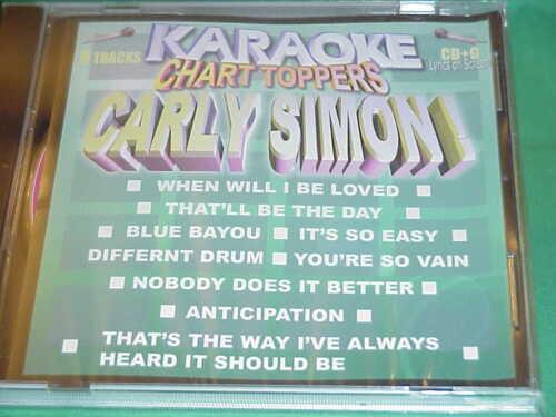 Carly Simon & Linda Ronstadt ~ Karaoke Chart Toppers ~ 04 ~ Karaoke ~ CD+G ~ NEW