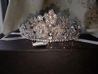 Vintage style swarovski wedding tiara