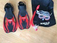 Childrens snorkel set