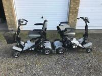 Two Quingo Air Mobility scooters Spare and repair