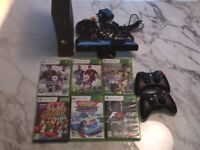 Xbox 360 250gb & kinect & 6 games - excellent condition