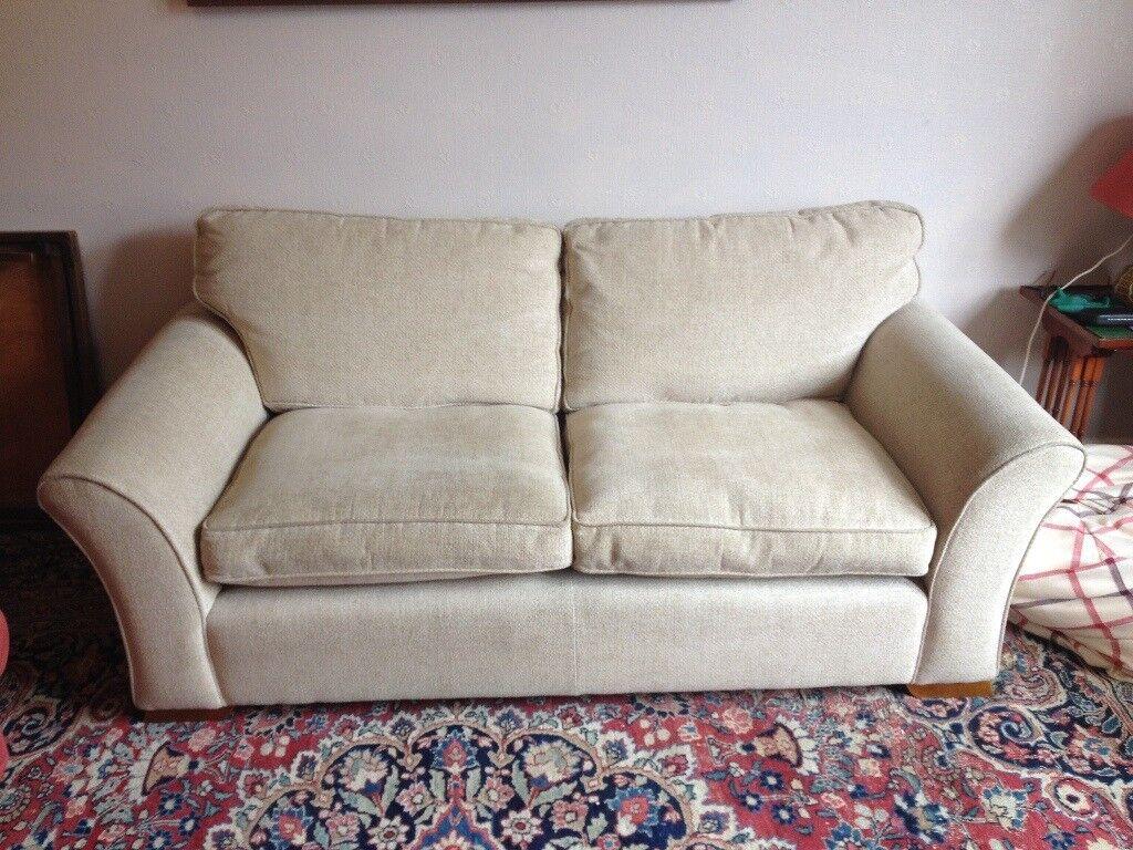 Large 2 Seater Comfortable Laura Ashley Fabric Sofa