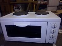 2 plate electric hob and oven