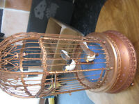 """rare Enesco """"The Gilded Bird Cage"""" Multi-Action Music Box Plays """"The Edelweiss"""""""
