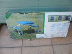 Picnic table and seat set