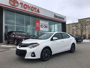 2014 Toyota Corolla Sport model with leather
