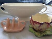 3 Pieces Vintage/Antique Ceramics/Pottery, including Wedgwood