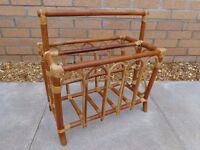 STRONG CANE PAPER RACK BASKET from Ideal Home Exhibition 1980s Design - stage show