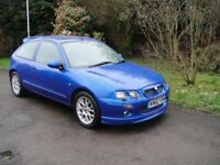 2002 MG ZR +TD in the most attractive blue with sports seats long MOT and 2 previous owners