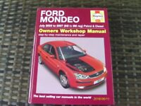 Haynes Owners Workshop Manual for Ford Mondeo July 2003 to 2007 Petrol and Diesel