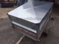 Trailer hard top lid lockable weather proof / Trailer solid extensions, trailer greedy boards
