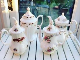 Bone china coffee coffee pots