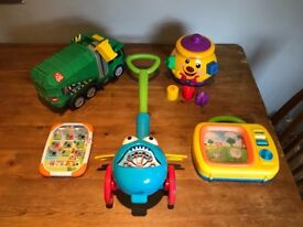 Mixture of kids toys