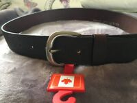New Brown Leather Canadian Belt Size 32