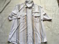 F.d.s men's shirt white size M used few times short sleeves £4