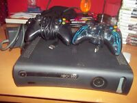 Xbox 360 Elite 120 G with 24 Games