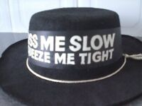 KISS ME SLOW- SQUEEZE ME TIGHT Black Hat (New)