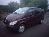 Mercedes-Benz Vito compact 109cdi 4 seats 117500 miles 6 months test left tinted glass allround