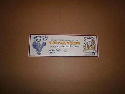 WUSA San Diego Spirit Vintage Defunct Bumper Sticker
