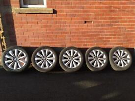 """VW SET OF 17"""" ALLOYS WITH TYRES"""