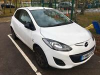 Mazda 2 Sport Colour Edition car in white-2014 (64 Plate) very low mileage,only 7050 miles