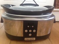 Crock-Pot Slow cooker, 5.7 L - Polished Stainless Steel