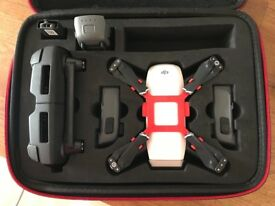 DJI Spark Alpine White, DJI Refresh, 3 batteries, charger, carry case, boxes. Excellent condition.