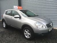 2007 NISSAN QASHQAI 1.6 ACENTA 88K FULL YEARS MOT 6 MONTHS WARRANTY DEBIT & CREDIT CARDS ACCEPTED