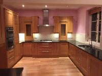 Full kitchen for sale, solid oak with granite worktops