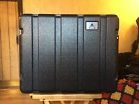 Black RAT 8U ABS Rack Case for Amplifiers and Effects Units