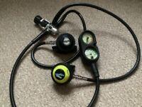 Diving equipment..Sherwood U S Made regulator set in good condition