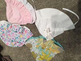 4 Baby girl summer hats