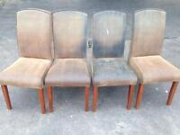Used condition 8 chair with new cover only £10 each price