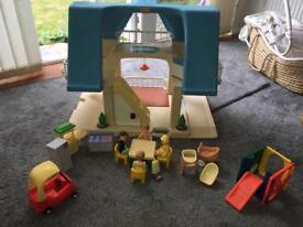 Little Tikes Retro Dolls House, people, furniture, car etc