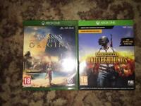 Assassins Creed and PUBG- XBOX ONE