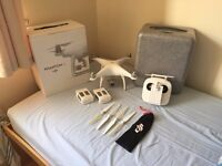 DJI Phantom 4 Quadcopter / Drone - 2 Batteries, Case, Charger, Spare Propellers - Great Condition