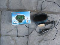 VST Car thermometer with voltmeter new in box
