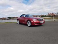 Chrysler Crossfire convertible manual in red