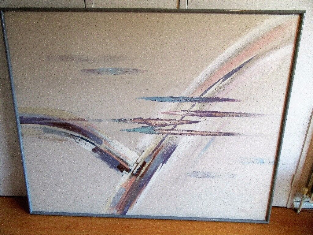 Large Original Abstract Picture - Signed Lee Reynolds