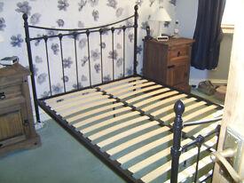 DOUBLE METAL BED FRAME BLACK