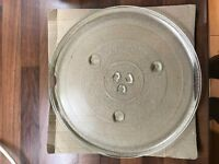 "Microwave turntable plate 12"" with ring"