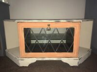 Hand painted shabby chic tv stand