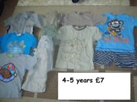 boys clothes 4-5 years collection from didcot from a smoke and pet free home