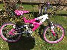 Childrens pink bike