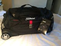 TITLEIST WHEELED DUFFLE HOLDALL - New, with tags. Never Used. Quality item