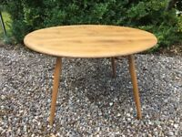 Early Ercol Drinks Coffee Table Windsor Natural Blonde Elm No. 142 mid century