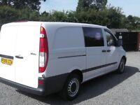 MERCEDES-BENZ VITO 109 CDI LWB 6 SEATS CREW VAN 2009 59 REG