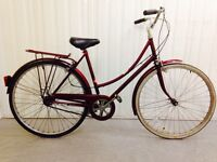Beautiful Raleigh English Heritage..Fully serviced.. three speed Hub Gears
