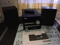 Hi Fi Micro system hardly used with radio and CD